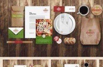 Restaurant Food Identity Mock-up 48010 10