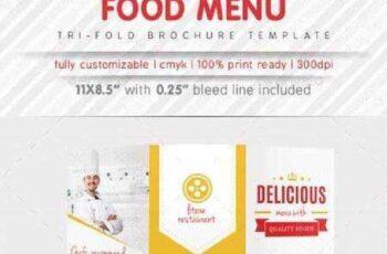 Food Menu Tri Fold Brochure 9343324