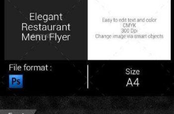Elegant Restaurant Menu Flyer 9671212 5