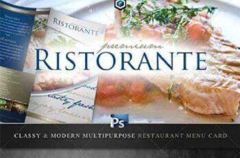 Classy Restaurant Menu Card Template 2201806 3