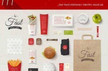 Fast Food Company Identity Mock-up 9988270 5