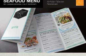 Seafood Menu Template 130644 8