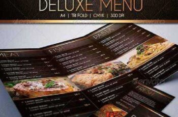 Deluxe Food Menu Template Tri-Fold 6964986 5