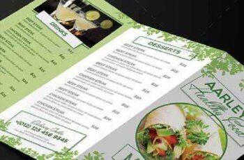 Healthy Food Menu Trifold 10311054 2