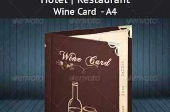 Hotel Restaurant Wine Card - A4 4536240 3