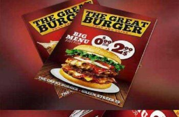Burger Fast Food Menu Restaurant PSD 253358 4