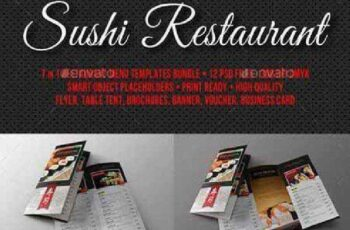 Sushi Restaurant Menu Pack 12178777 10