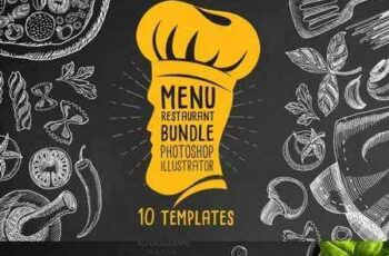 Menu restaurant Bundle 10 Templates 335791 1