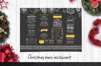 Food menu, restaurant flyer #15 401179 12