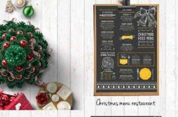 Food menu, restaurant flyer #19 405561 2