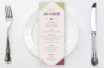 Geometric Wedding Menu 612575 7