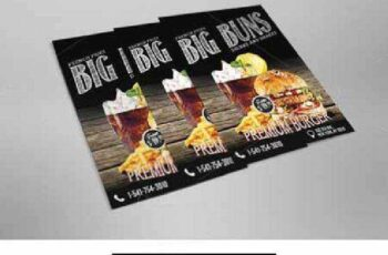 Premium Burger Flyer Template 614387 9