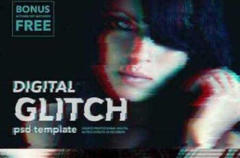 Digital Glitch Effect PSD Templates 889095 8