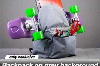 Backpack on grey background - 15 UHQ JPEG 4