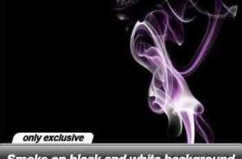 Smoke on black and white background - 21 UHQ JPEG 4