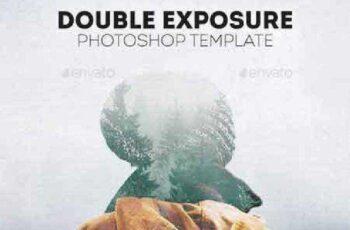 Double Exposure Photoshop Template 17075830 16