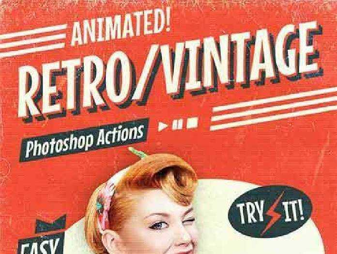 Animated Retro Vintage Film - Photoshop Actions 17701681