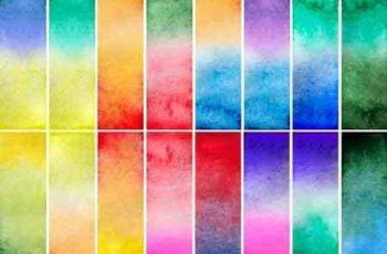 Watercolor gradient rectangles - 8 UHQ JPEG 4