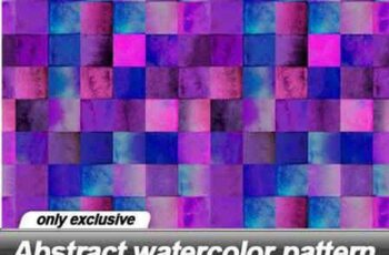 Abstract watercolor pattern - 19 UHQ JPEG 16