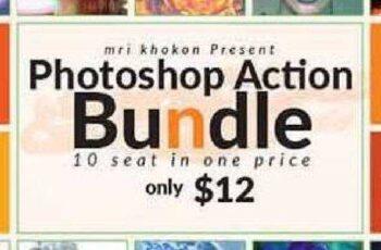 Photoshop Actions Bundle 16752350