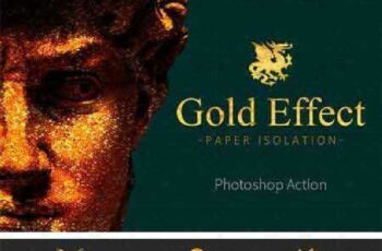Gold Paper Photoshop Action 916673 7
