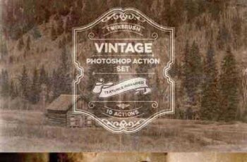Vintage Effect Photoshop Action Set 973303