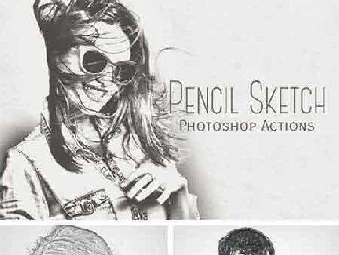Pencil sketch photoshop actions 964352 free download photoshop action lightroom preset psd template mockup vector stock font google drive links
