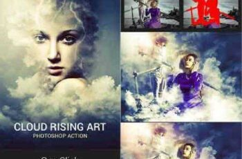 Cloud Rising Art Photoshop Action 18180124