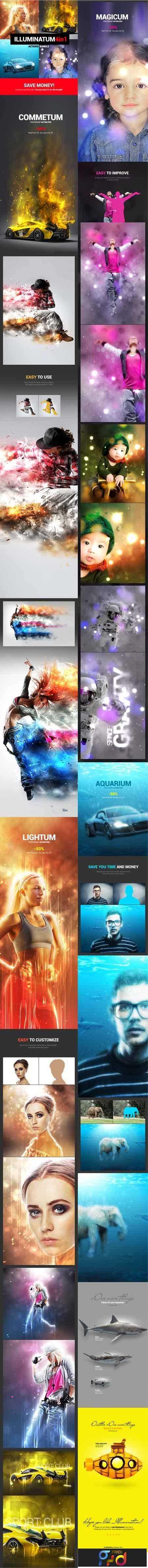 Illuminatum - 4in1 Photoshop Actions Bundle 18134079 - FreePSDvn