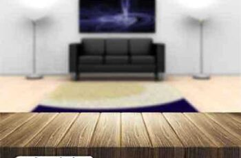 Wooden table with defocused empty room image - 25 UHQ JPEG 3