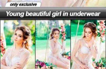 Young beautiful girl in underwear - 13 UHQ JPEG 5