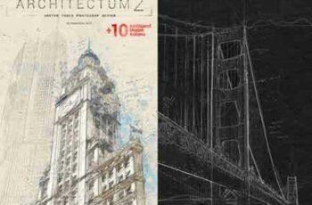 Architectum 2 - Sketch Tools Photoshop Action 18436174 5