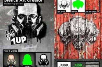 Stencil Art Creator Photoshop Action 18484365 9