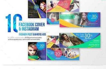 10 Facebook Cover & 10 Instagram Fashion Post Banners Ads 17656114 3