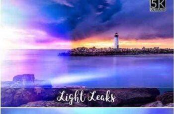 1801130 5K Light Leaks Overlays 1787342 3