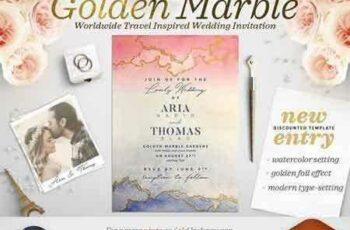 1801142 Golden Marble Wedding Invitation I 1488546 2