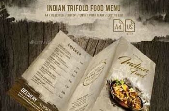 1812167 Indian A4 and US Letter Trifold Food Menu 20698642 6