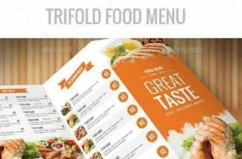 Trifold Food Menu A4 12086772 7