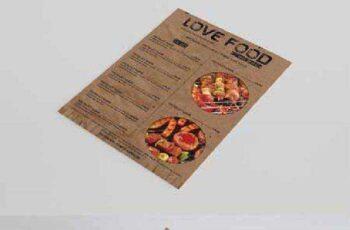 Vintage style FOOD MENU 384577 3