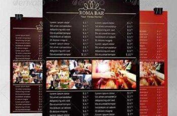 Elegant Bar Menu Template 6561820 6