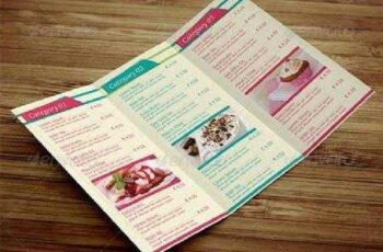 Sweet Shop Trifold Menu Design 6747188 5