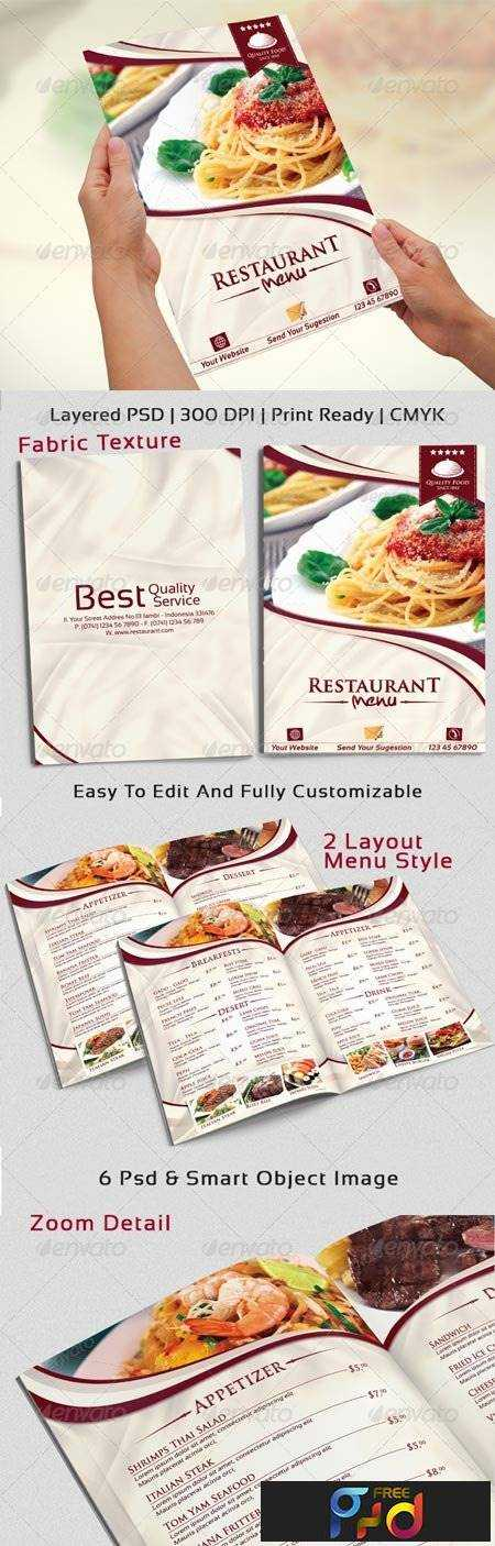 Modern elegant restaurant menu templates 6666594 freepsdvn for Roman menu template