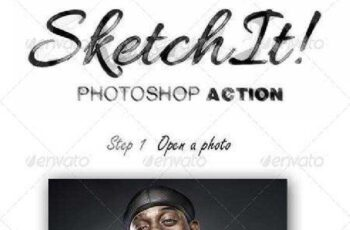 SketchIt Photoshop Action 7730228