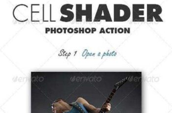 Cell Shader Photoshop Action 7746847 8