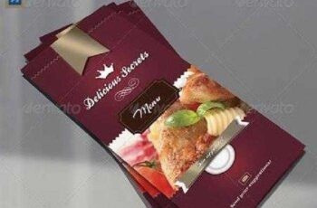 Delicious Secrets Tri-Fold Restaurant Menu 2578751 7