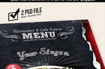 Retro Restaurant Menu Flyer Templates v2 8919184 6