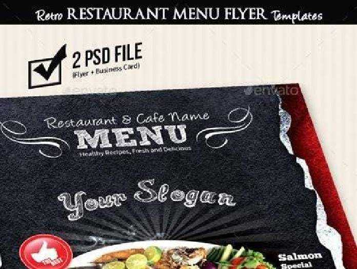 Retro Restaurant Menu Flyer Templates V2 8919184 Freepsdvn