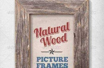 11 Isolated Natural Wood Picture Frames 2686798 5