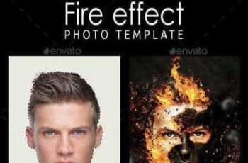 Fire Effect Photo Template 11108155 3