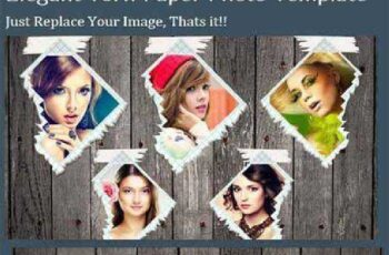 Elegant Torn Paper Photo Frame 395945 7